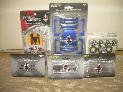 6 X XMODS Model Car Body/Chassis/Lighting Kits (New/Unused) • 34.95£