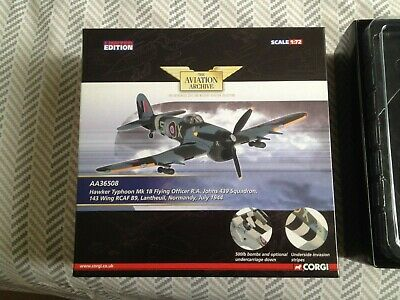 CORGI - HAWKER TYPHOON  Mk.1 B Flying Officer R A Johns 439 Squadron -  • 10£