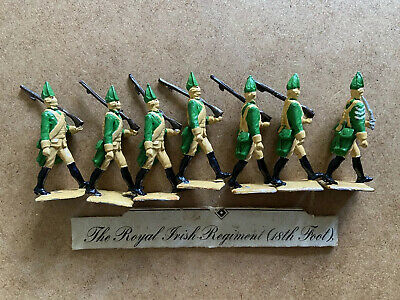 Lead? Soldiers X7 Royal Irish Regiment (18th Foot) Foot Soldiers Plus Officer • 32£