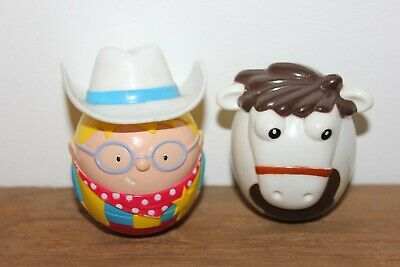 Nestle Milky Bar Kid & Horse Weeble Set - For Charity • 4£
