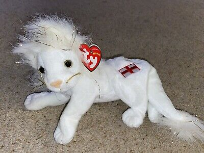 Ty Beanie Babies, Pride The White Lion • 2£