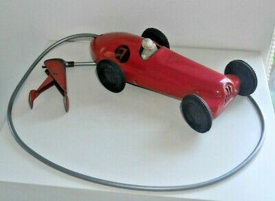 VINTAGE MOBO REMOTE CONTROL 1950's TINPLATE TOY RACING CAR RARE WORKING   G861 • 95£