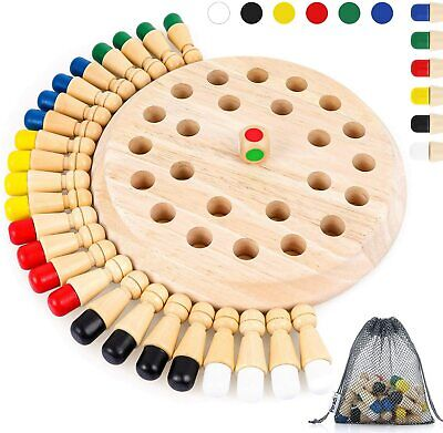 Children Wooden Memory Matchstick Chess Game Block Board Educational Toy. Age 3+ • 16.95£