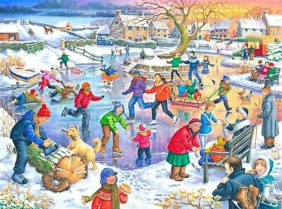 House Of Puzzles Big 500 Piece Jigsaw Puzzle - Ice Skating -  New & Sealed • 15.99£