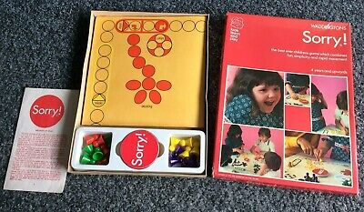 Sorry! Waddingtons 1973 Vintage Board Game Retro Family Board Game Complete • 19.90£