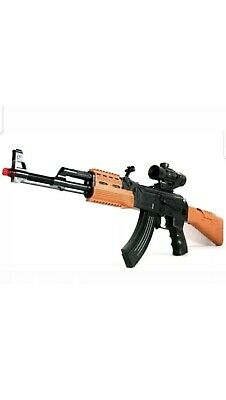 Kids Ak 47 Machine Gun Lights Sound Vibration Toy Role Play Brand New 80cm • 11.89£