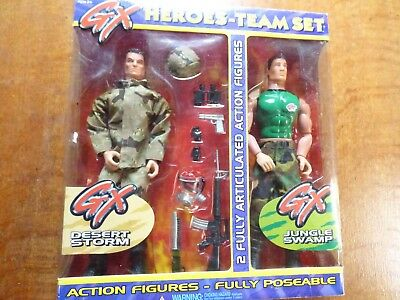 Boxed Set Of Two  Gx Action Heroes Figures- New • 23.99£
