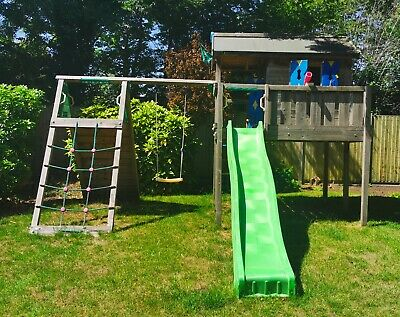 JungleGym Children's Swing Sets-Playhouse XL 2-Swing/playhouse/climbing RRP£1500 • 780£