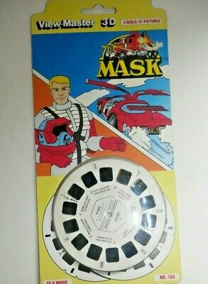 * Sealed * Mask 1986 Viewmaster 3d Reels Kenner Set 1056 Rare   H572 • 34.95£
