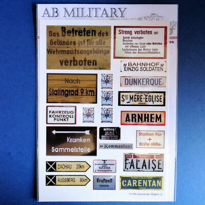 1/16 Scale WWII German Signs 2 • 7£