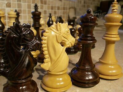 Huge 4 1/4  Reproduction Antique Chess Pieces 4 Queens,staunton Style  • 139£