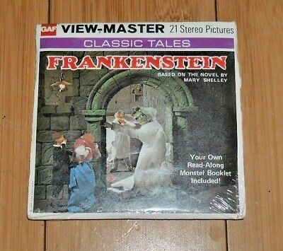 * Sealed * Frankenstein Mary Shelley Viewmaster Reels B323 1976 Rare   B147 • 32.95£