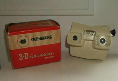 Rare Viewmaster Model E Viewer - Made In Belgium - Cream - Boxed  G172 • 125£