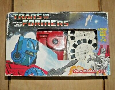 Transformers Viewmaster Viewer Box Set & Reels 1985 Hasbro Rare Boxed   G349 • 49.95£