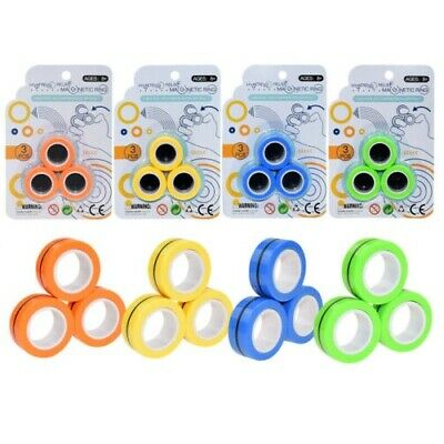 Fingears Magnetic Ring Toy - Finger Spinner Toy Multi Activity Stress Relief • 7.99£
