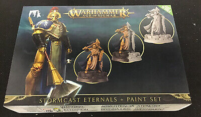 Warhammer Age Of Sigmar Miniature And Paint Set - Stormcast Eternals • 20£