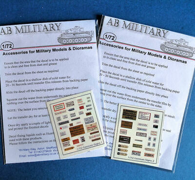 1/72 Scale WWII German Signs Twin Pack • 6£
