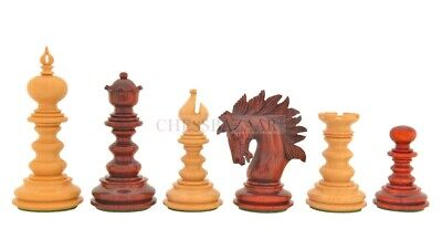 Combo Of St.Petersburg Luxury Chess Set & Wooden Board In Budrose Wood 4.2  King • 827.62£
