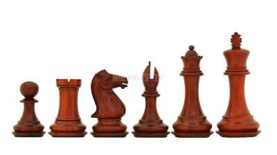 The Old Collector's Club Staunton Chess Pieces In Red Bud Rose Wood - 4.4  King • 341.99£