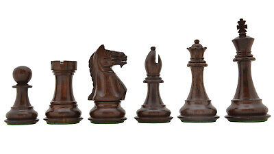 Fierce Knight Staunton 34 Chess Pieces In Indian Rose Wood & Boxwood - 4.1  King • 155.03£