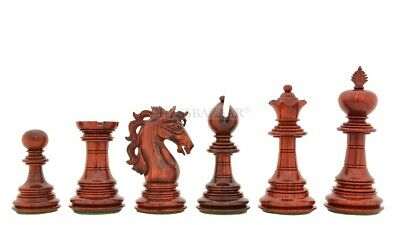 American Adios Luxury Chess Pieces In Bud Rose Wood / Box Wood - 4.4  King • 395.95£