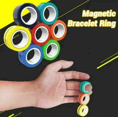 Fingears Magnetic Ring Toy - Finger Spinner Toy Multi Activity Stress Relief • 1.99£