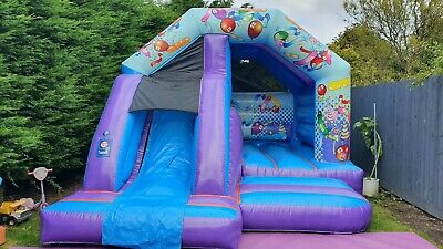 AIRQUEE PARTY BOUNCE & SLIDE 12 X 15 WITH CURRENT PIPA TEST GREAT CONDITION • 1,049£
