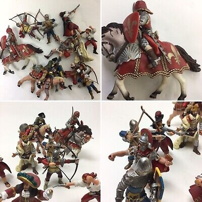 8 X Papo Figures & 5 X Schleich Figures Bows & Arrow Pirate Knights Horses • 17.99£