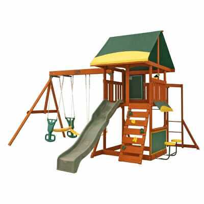 Kidkraft Brookridge Climbing Frame And Swing Playset | Kids Wooden Monkey Bars • 749£