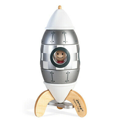 Janod Silver Magnetic Rocket (Limited Edition) • 19.99£