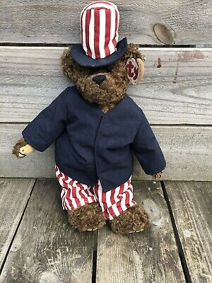 "TY BEAR ATTIC TREASURES 14"" LG BEAR WITH TAG Good Condition • 20£"