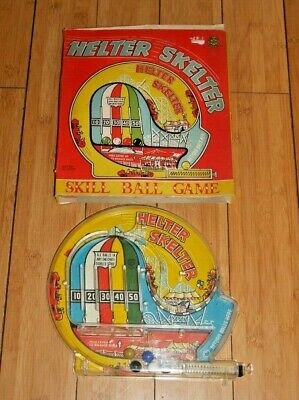 Marx Toys Helter Skelter Skill Ball Game Bagatelle Vintage Toy Rare Boxed  E579 • 24.95£