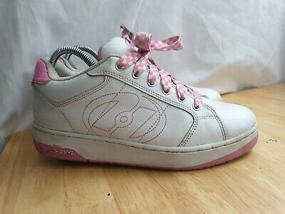 Heelys Adult Size 7 White And Pink Trainers • 24.99£