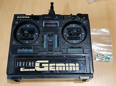 Sanwa Gemini  Exerd 40mhz 2 Channel Transmitter With Manual Rare Vintage  • 75£