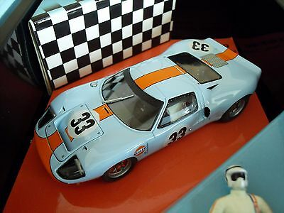 Ford GT40 - Brian Redman Spa 68 *Gulf Livery*- Scalextric Compatible - Brand New • 64.99£
