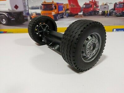 Bruder Front Wheels And Axle ,suit Tamiya, RC, 1/16 Conversion • 4.50£