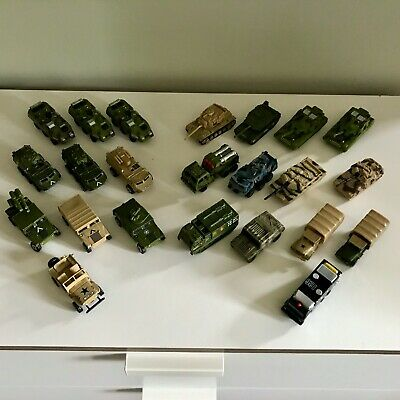 Collection Of Toy Military Vehicles And Tanks • 16£