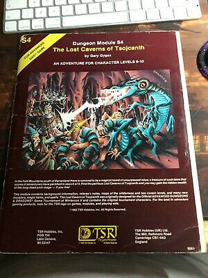 The Lost Caverns Of Tsojcanth S4 AD&D  Dungeons Dragons Fantasy Module 1982  • 9.99£