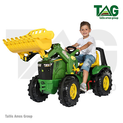 John Deere Childrens 8400R Tractor With Front Loader 2-gear Shift -MCR651078000 • 285£