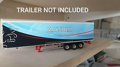 Malcolm Trailer Decals ONLY 1/76 Code 3 Vinyl Wrap Adhesive  • 6£