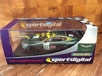 DIGITAL SCALEXTRIC C2644D. ASTON MARTIN DBR9. No.57. WITH LIGHTS. MINT/BOXED. • 25£