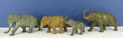 4 Lead Elephants Cherilea , Taylor & Barrett & 2 Others Unknown Makers • 28£