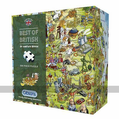 Gibsons Best Of British 500 Piece Jigsaw Puzzle (UK) • 17.85£