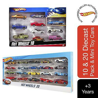 Hot Wheels 10 Or 20 Diecast Pack Of Mini Toy Cars (Pack May Vary) • 24.99£