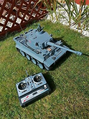 Twin Remote Control Battle Tank Game Infrared Radio RC Shooting Geman Tiger M1a2 • 55£