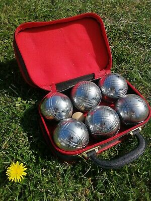 Obut Set Of 6 Boules / Petanque In Carry Case • 30£