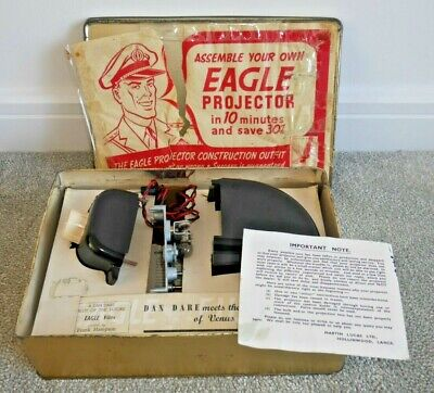 Vintage Dan Dare Eagle Projector In Tin Box With Instructions Very Rare  H392 • 145£