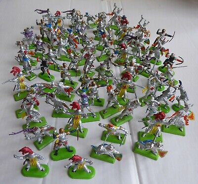 Job Lot Of 70 Vintage Britains 'knights Of The Sword' Silver Foot Knights • 46.99£
