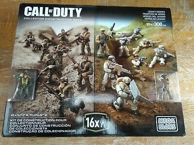 Call Of Duty Mega Bloks Legacy Heroes Rare New And Sealed • 75£