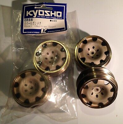 Kyosho   OR56 Wheels ( Skyline Type )   New , X 4 , From Mid 1990's • 40£